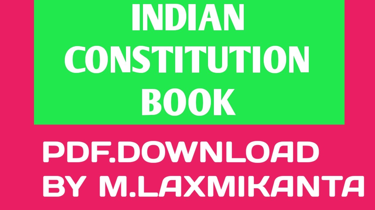 Constitution pdf indian book