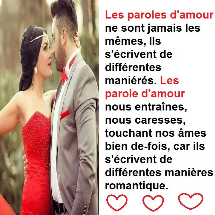 Parole d'amour & parole romantique pour les amoureux(se)