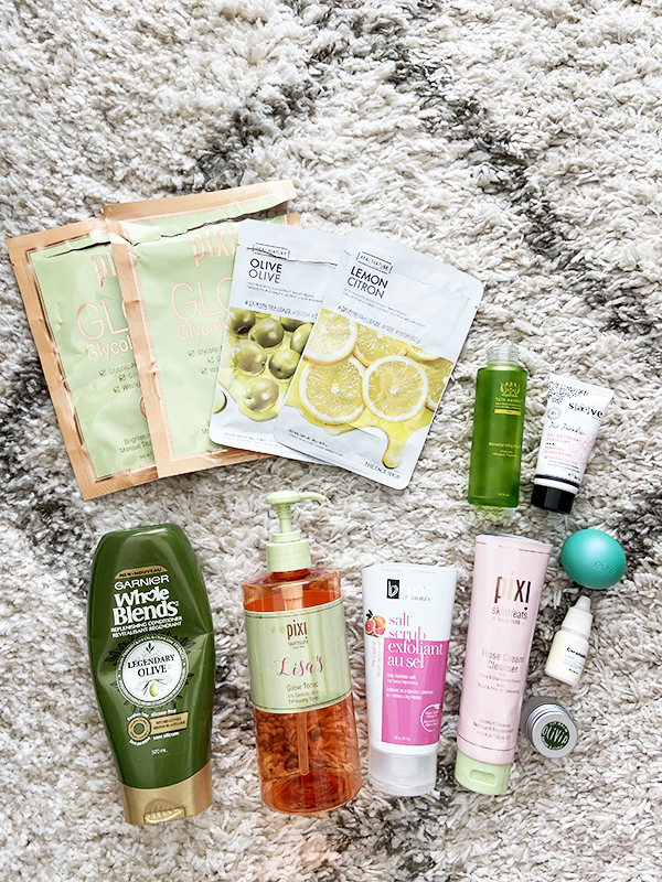Round-up of empty beauty, skincare, body and hair care products from Pixi, The Face Shop, Tata Harper, Saeve, BV Spa, Garnier, EOS, Dr. Jart, Marius Fabre