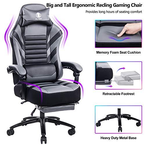 The Best Von Racer Big Tall 400lb Memory Foam Reclining Gaming Chair Metal Base