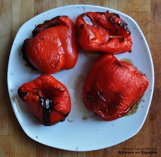 poivrons rouges grilles