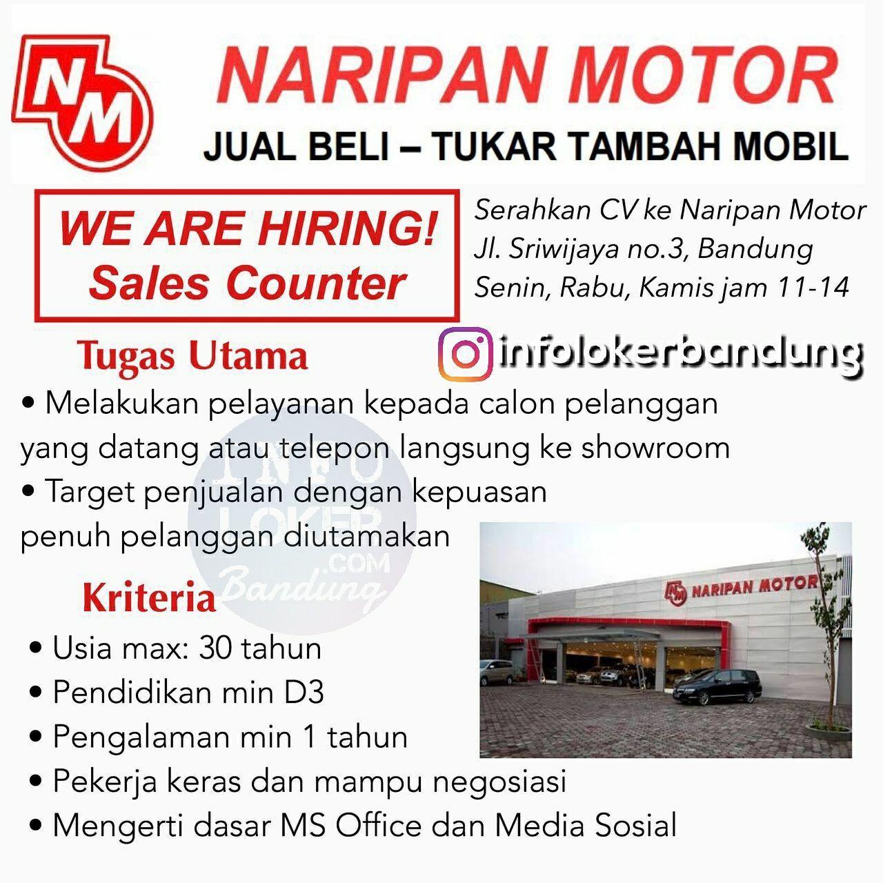 Lowongan Kerja Naripan Motor Bandung Januari 2018