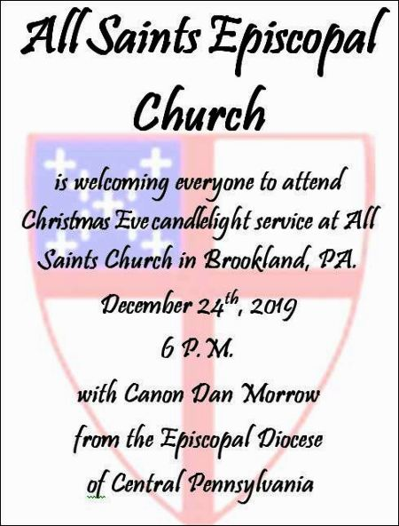 12-24 Christmas Eve Candlelight Service, Brookland, PA