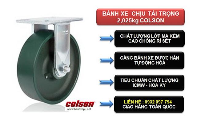 Bánh xe công nghiệp chịu tải trọng nặng 2,025kg | 7-8678-279 www.banhxepu.net