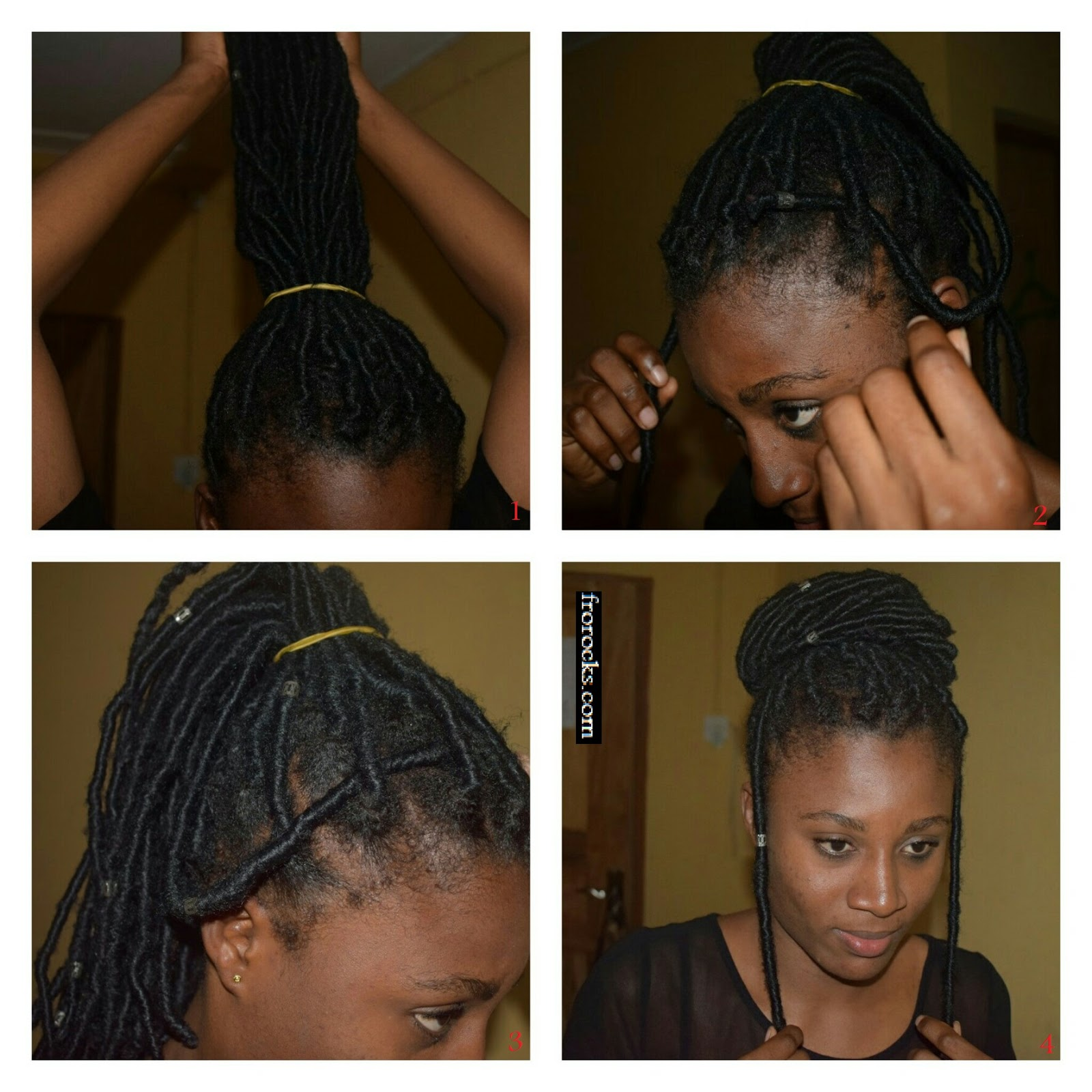 Fantastic 3 Ways To Style Faux Locs Frorocks Discovering Natural Hair Hairstyle Inspiration Daily Dogsangcom
