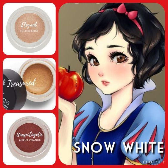Cream Shadow Trio inspired by Snow White