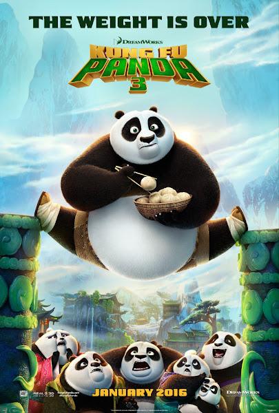Poster Of Kung Fu Panda 3 (2016) 720p Hindi BRRip Dual Audio Full Movie Download