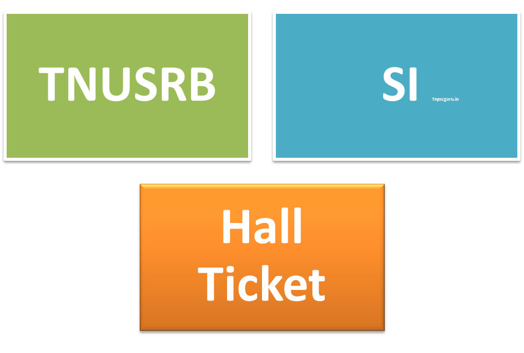 TN SI Hall ticket Admit card Download 2015 Here