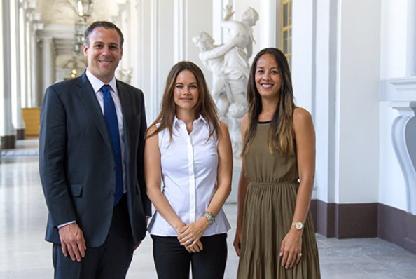 "Princess Sofia met with representatives of ""Girl Effect"" organization, namely, Senior Director Matthew Freeman and Global Gender Director Natalie Au"