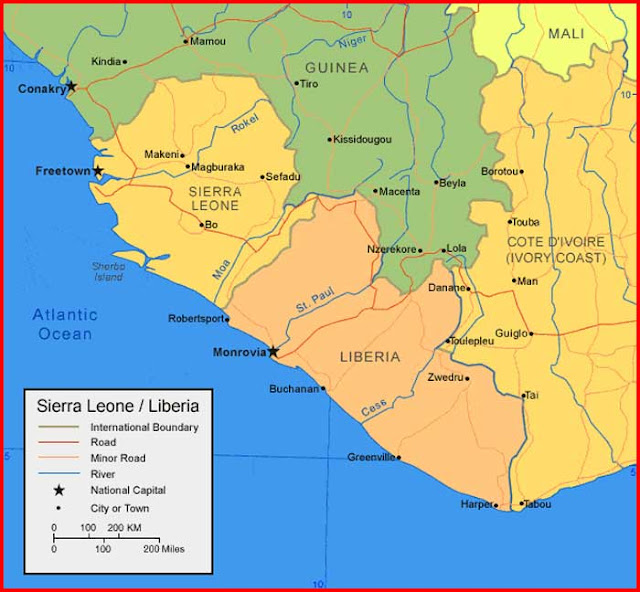 Gambar Peta Sierra Leone
