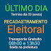 TERMINA NESTA SEXTA, 23, O RECADASTRAMENTO ELEITORAL DA COMARCA DE SÃO JERONIMO DA SERRA