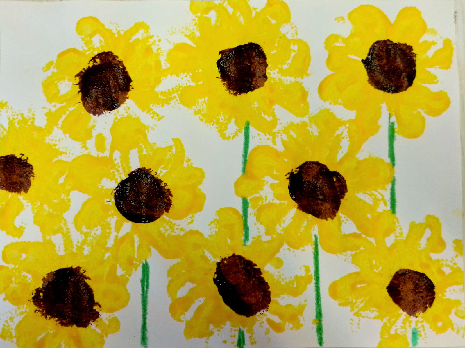 Choices For Children Pipe Cleaner Sunflower Prints