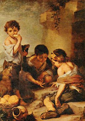 Postal: Niños jugando a los dados Alte Pinakothek, Múnich Editorial L. Arribas (Toledo)