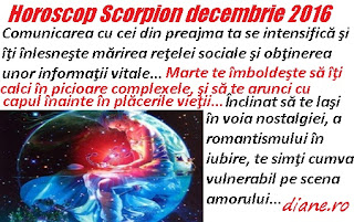 Horoscop decembrie 2016 Scorpion