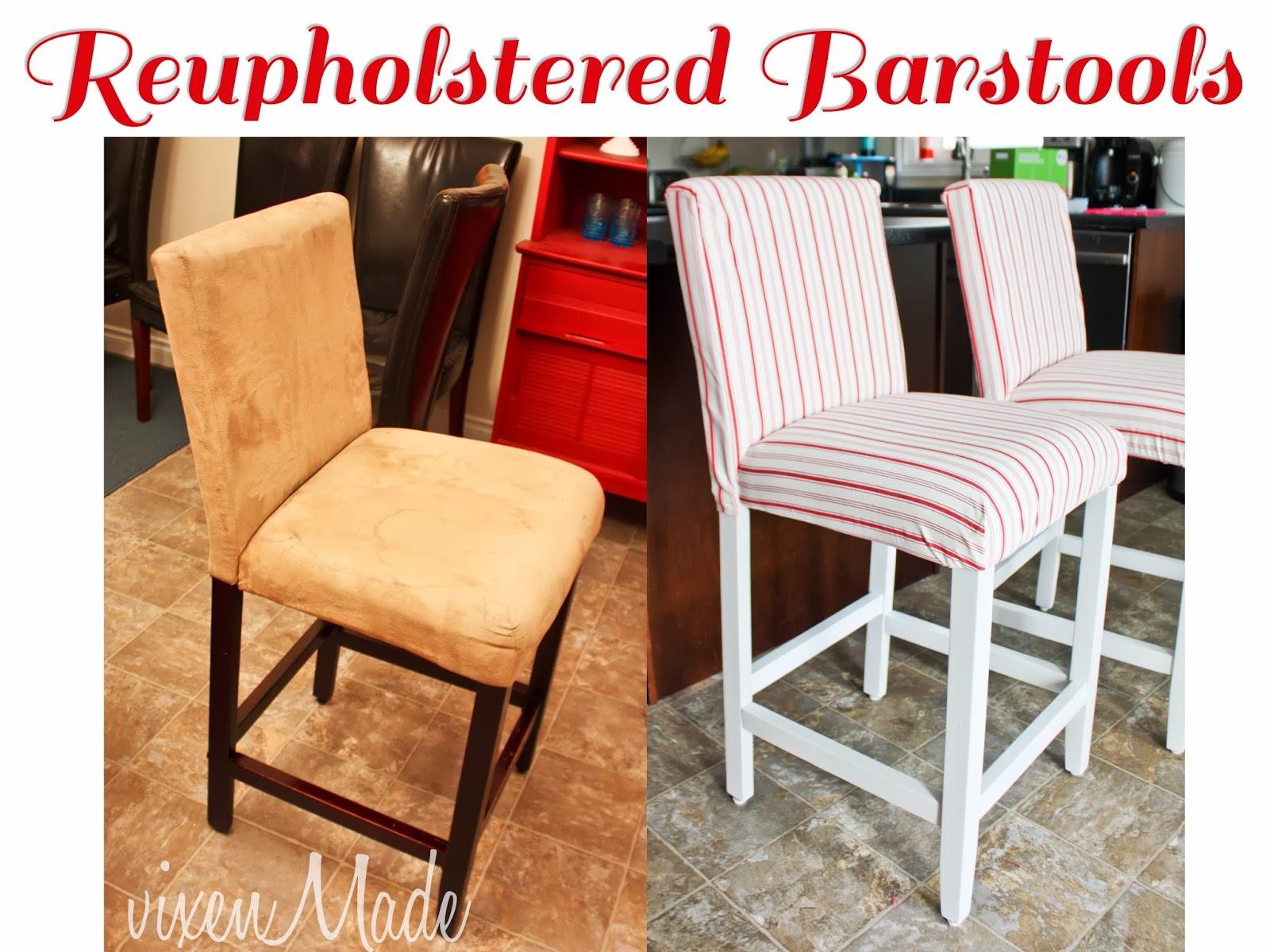 Reupholstered Bar Stools Vixenmade Parties