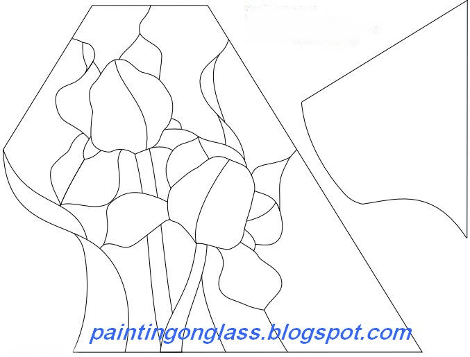 Stained Glass Lampshade Patterns.Stained Glass Iris Square Lampshade Pattern Painting On Glass