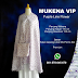 Mukena Vip Purple Line Flower