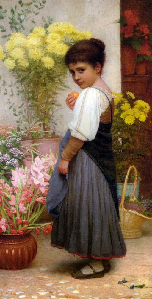 The Flower Merchant, Kate Dickens Perugini