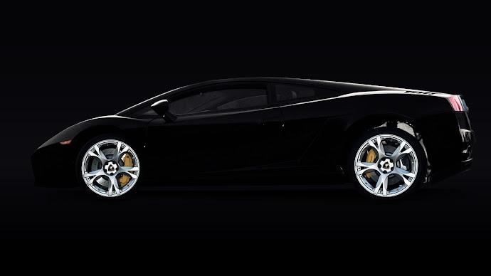 Wallpaper: Automotive Black Beauty Lamborghini