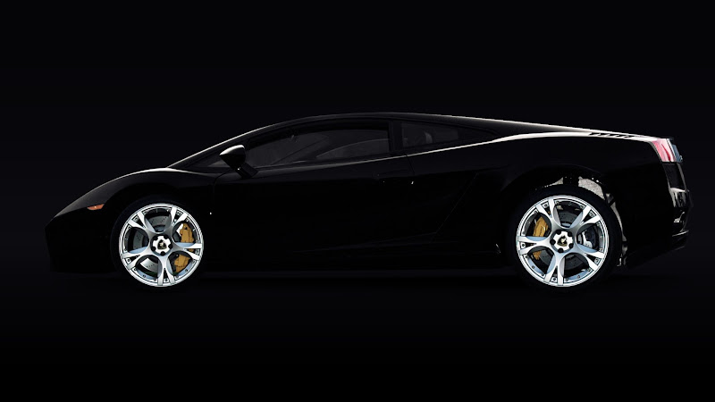 Automotive Black Beauty Lamborghini HD