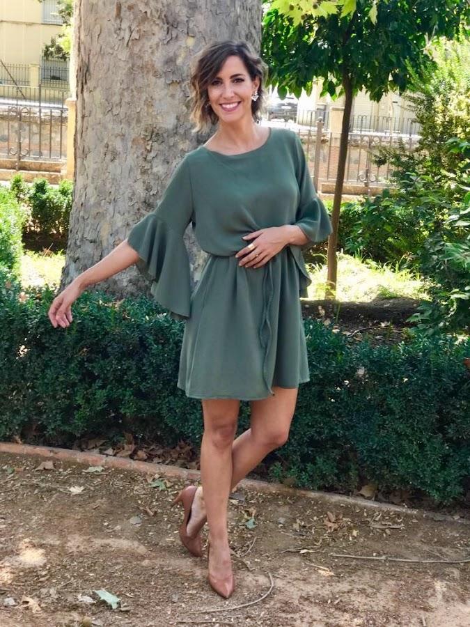 Fitness And Chicness-Vestido Verde Oliva Otoño-4