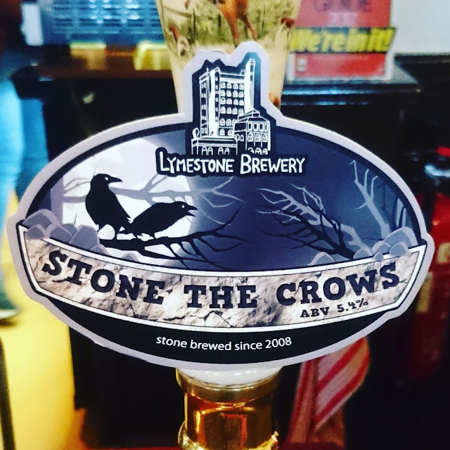 Staffordshire Craft Beer Review: Stone the Crows from Lymestone Brewery real ale pump clip