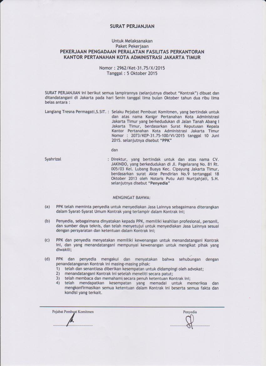 Baru Contoh Surat Perjanjianpekerjaan