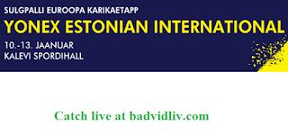 Estonian International 2019 live streaming