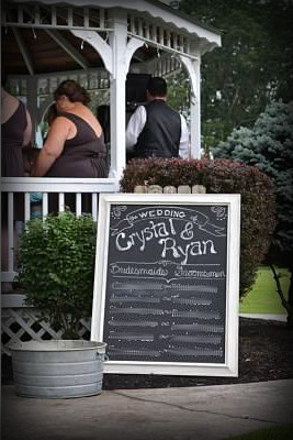 Wedding Program Chalkboard by Handcrafted Occasions