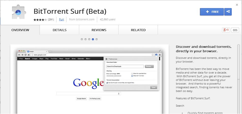 chrome to open bitorrent for torrent download