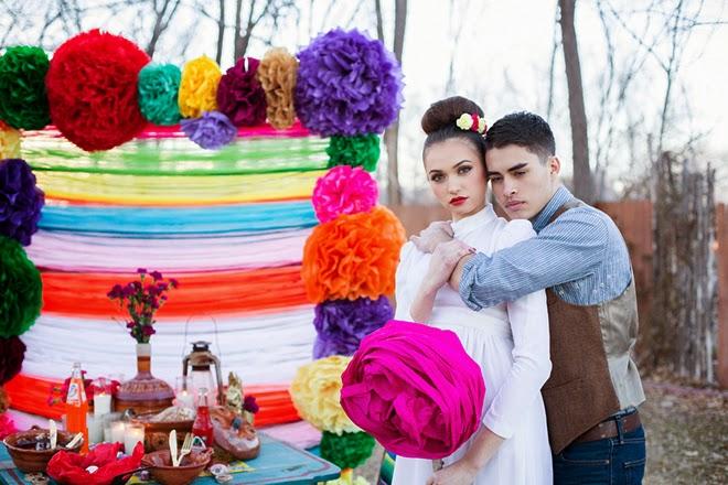 Viva La Vida: Mexican Inspired Wedding Photo-Shoot - Belle The ...