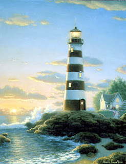 Parker Cove lighthouse by Richard Burns lighthouse decor
