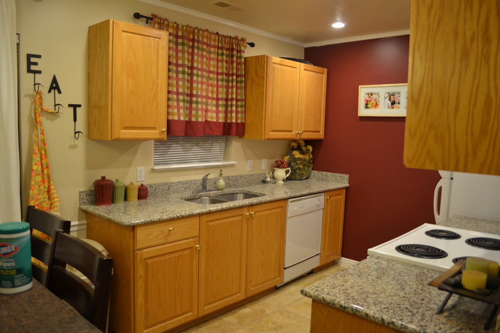 Honey Oak Cabinets with Granite