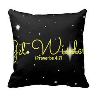 Get wisdom (Proverbs 4:7) throw pillow