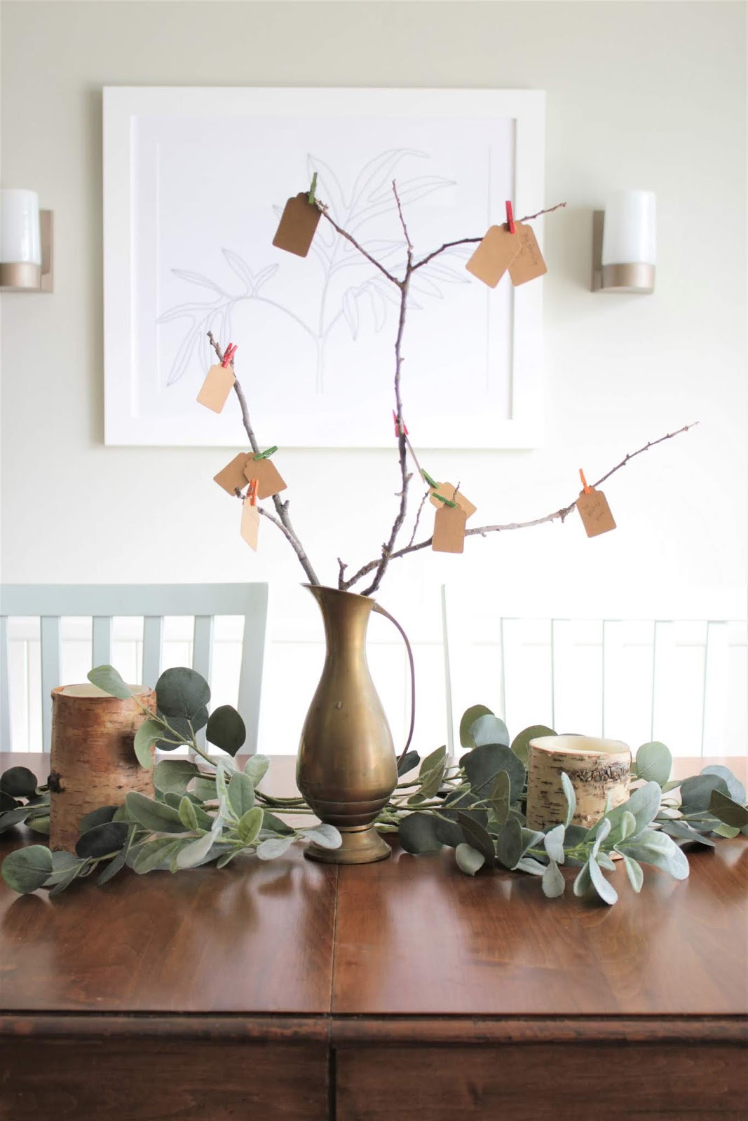 Thankful Tree: a free dollar, five minute holiday craft | House Homemade