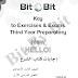 تحميل إجابات كتاب الشرح Bit By Bit للصف الثالث الاعدادى الترم الاول 2018