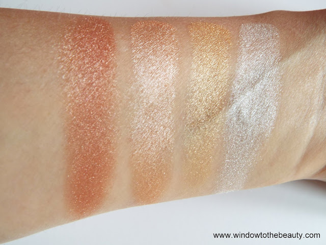 Revolution paleta Face Quad swatche