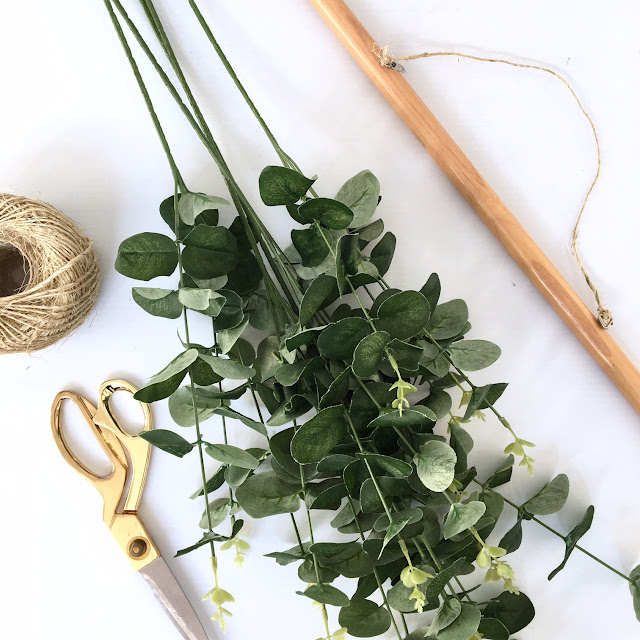 DIY Eucalyptus Wall Hanging Harlow and Thistle 2