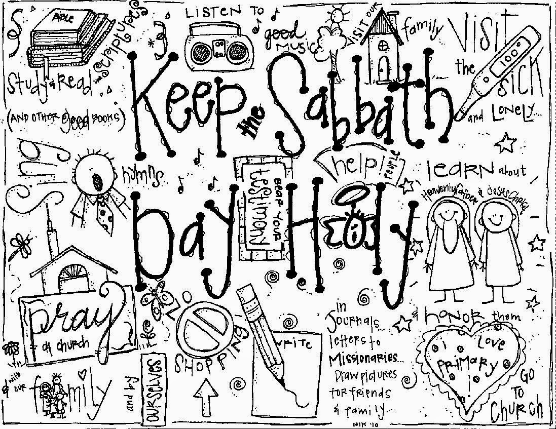 Melonheadz LDS illustrating: Keep the Sabbath Day holy