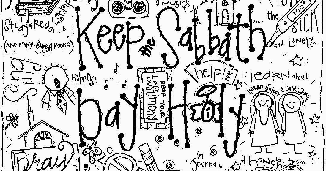 Melonheadz LDS illustrating: Keep the Sabbath Day holy