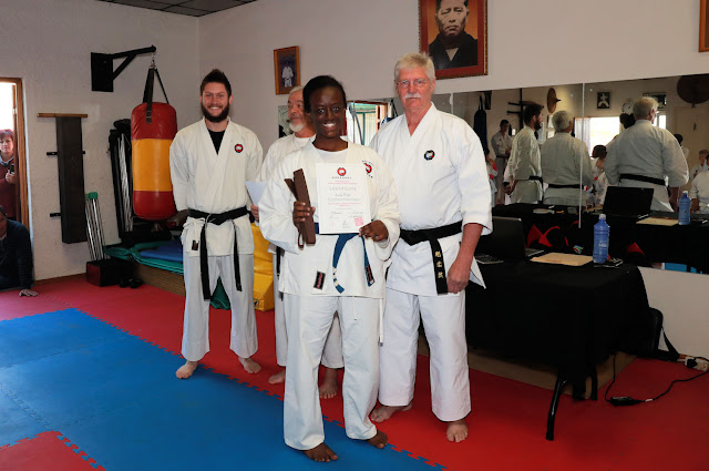 Karate grading at Shorei Martial Arts Academy