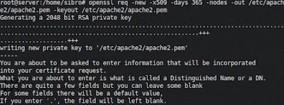 Pertama kita generate sertifikat ssl