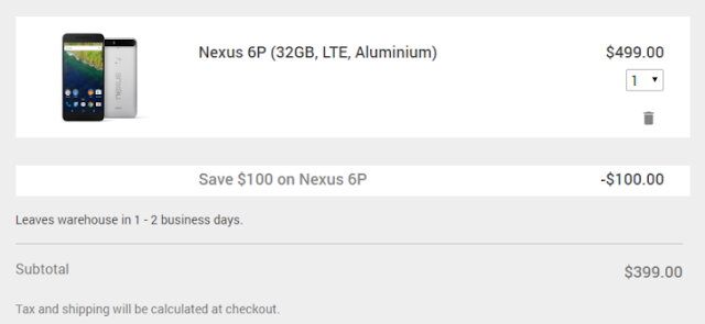 Nexus 6P Deal