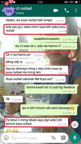 testimoni Susu Kambing Nufael