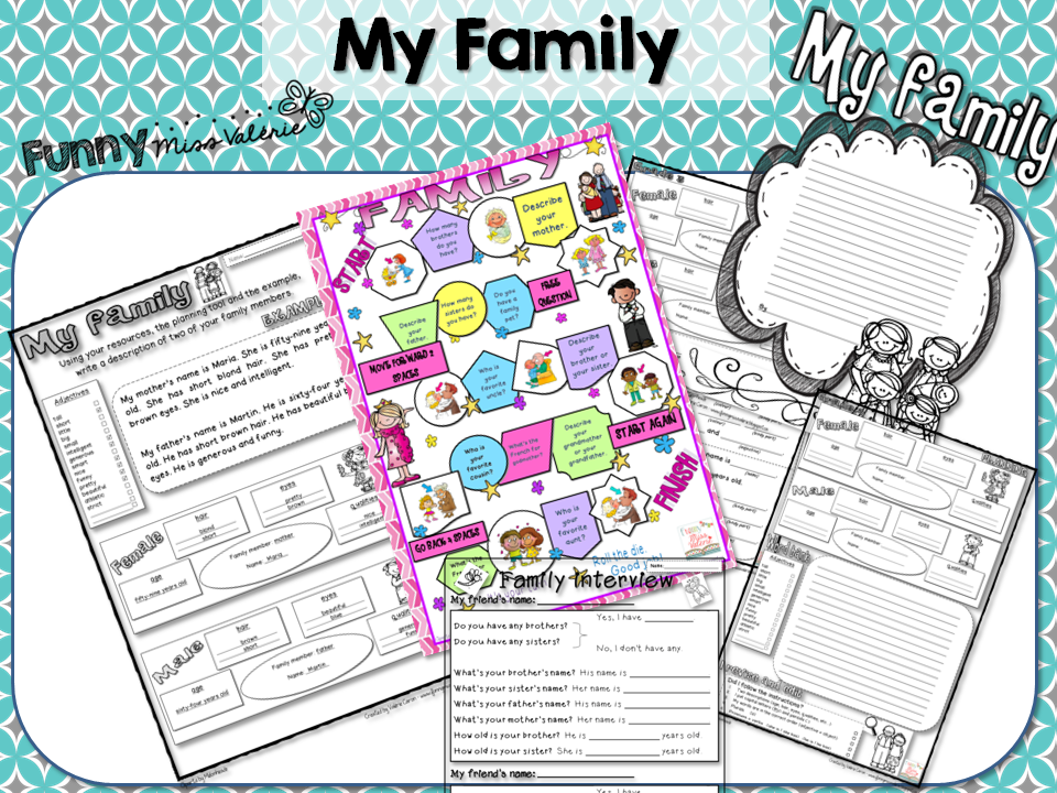 http://www.teacherspayteachers.com/Product/My-family-Writing-Project-1282679