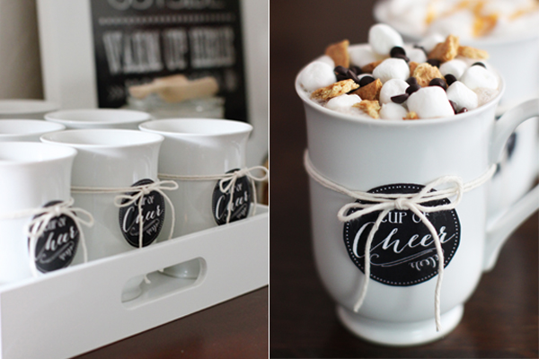 S'mores hot cocoa creation at a custom hot chocolate bar