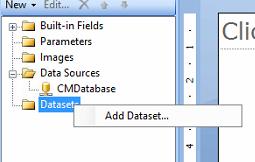 SSRS Report add a dataset