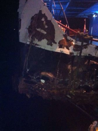 ACCIDENT, TURKEY: Cargo Ship Collides With A Ferry in Dardanelles Strait