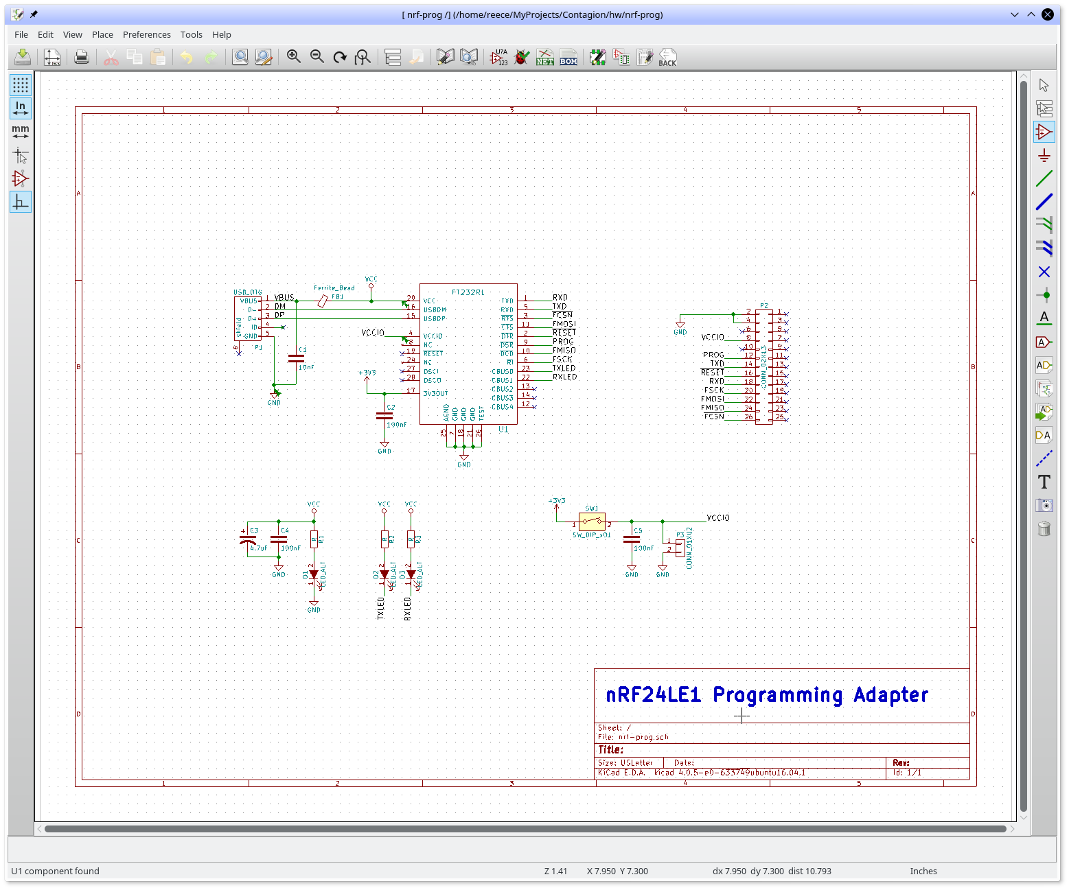 Insanity 4004 Kicad Schematic And Board An Eagle Example The Thing I Miss Most From Is Ability To Highlight A Net Wire Verify That Ive Named Things Properly For Vccio