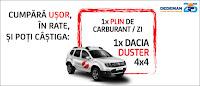 Castiga un autoturism Dacia Duster 4x4